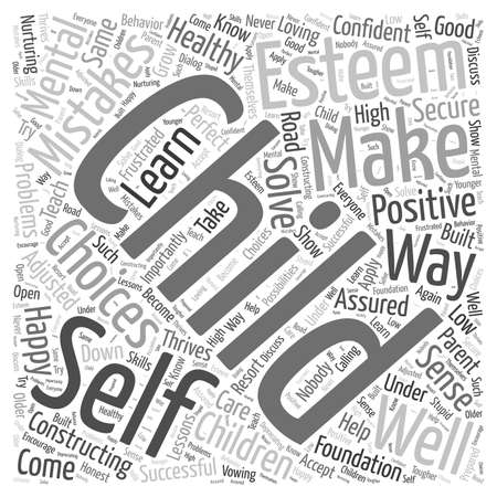 Het opbouwen van uw gezonde gezonde zintuig van zelfbewustzijn Word Cloud Concept