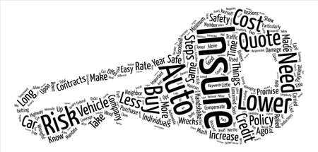 Easy Steps To Lower Your Auto Insurance Quote text background word cloud concept