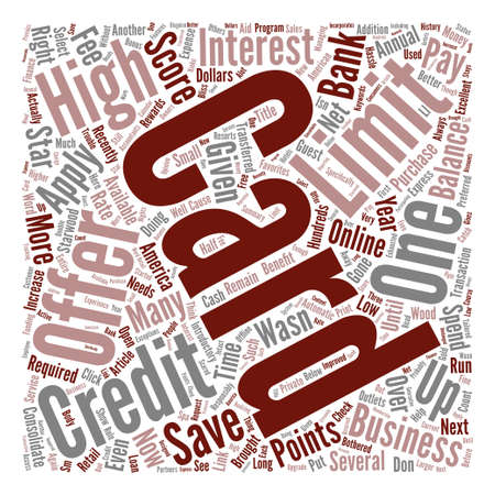 recently: High Limit Credit Cards Word Cloud Concept Text Background