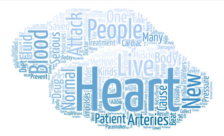 Heart Attacks And How To Prevent Them Word Cloud Concept Text Background