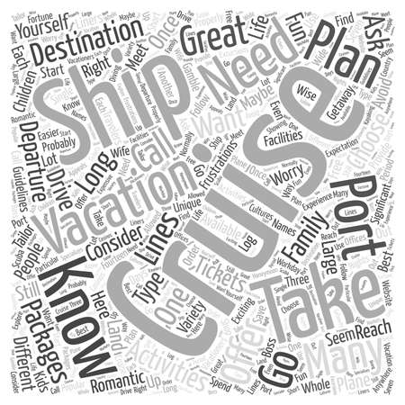 exciting: cruise vacations Word Cloud Concept