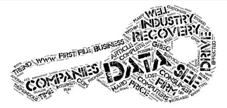 Data Recovery on text background word cloud concept