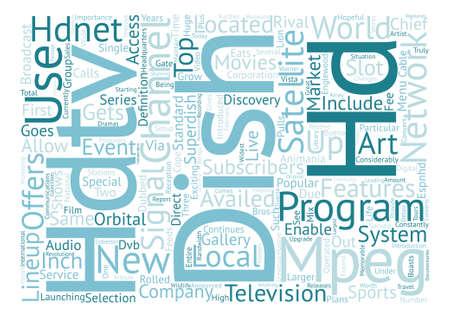 hdtv: dish network hdtv text background word cloud concept