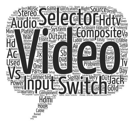 hdtv av selector switch text background word cloud concept Illustration
