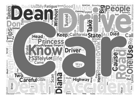 Drive Safely Your Life Depends On It Word Cloud Concept Text Background