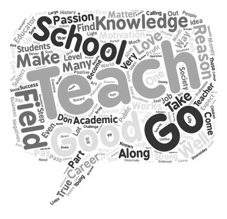 Good Reasons to Teach Word Cloud Concept Text Background