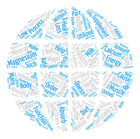 Did You Know Calcium Needs Magnesium To Be Absorbed Word Cloud Concept Text Background