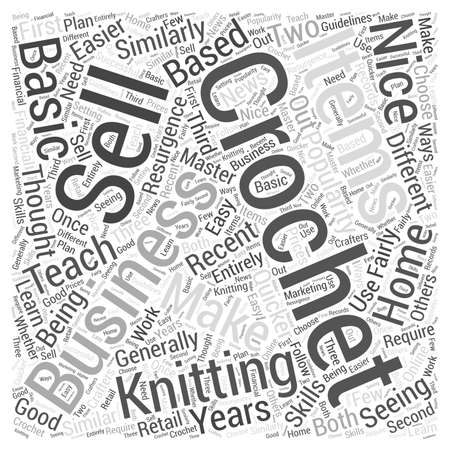 Crochet as a Home Based Business Word Cloud Concept