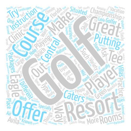 golfresort text background word cloud concept