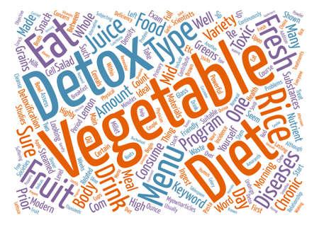 detox diet menu text background word cloud concept