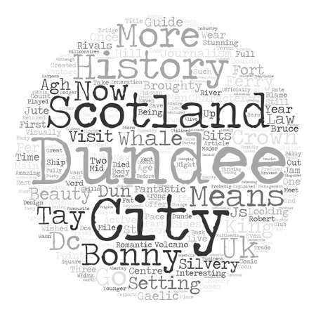 dun: Dundee History And Guide text background word cloud concept