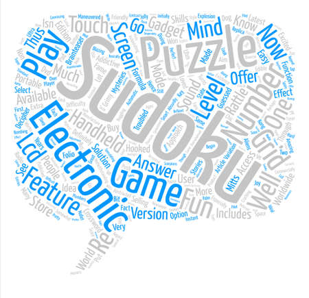 electronic sudoku text background word cloud concept