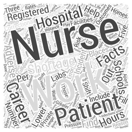 Facts about a Career in Nursing Word Cloud Concept