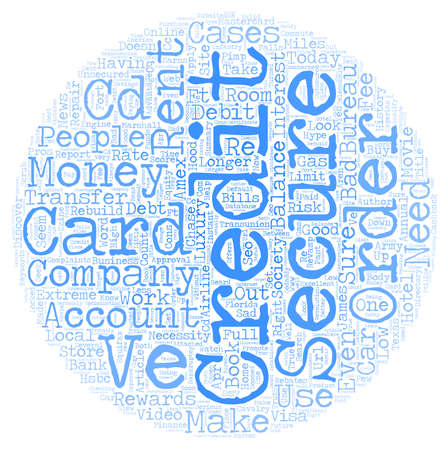 necessity: How Do Secured Credit Cards Work text background wordcloud concept Illustration