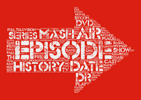 Mash DVD Review Word Cloud Concept Text Background