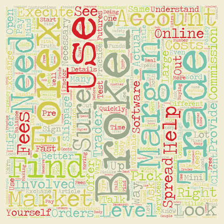 Find the Right Broker text background wordcloud concept Illustration
