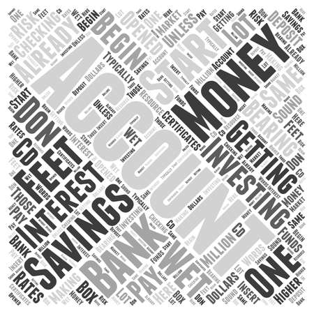 checking account: Getting Your Feet Wet Word Cloud Concept Illustration