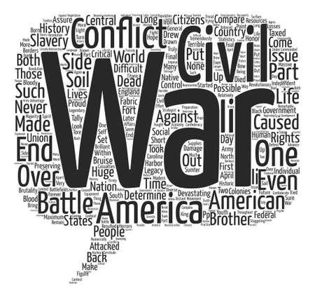 devastating: The Civil War text background word cloud concept