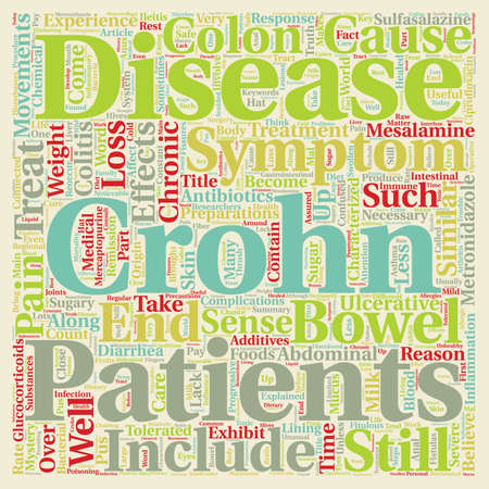 Crohn s Disease Explained text background wordcloud concept Illustration