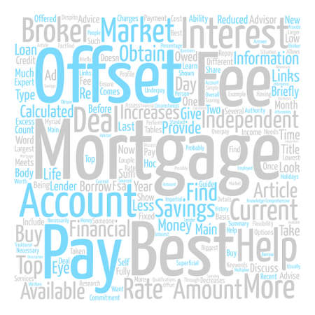 obtain: How To Obtain The Best Offset Mortgage Word Cloud Concept Text Background