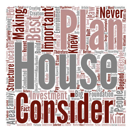 knew: House Plans The Best Investments Word Cloud Concept Text Background