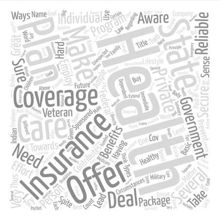 What You Need To Know About Health Insurance text background word cloud concept Illustration