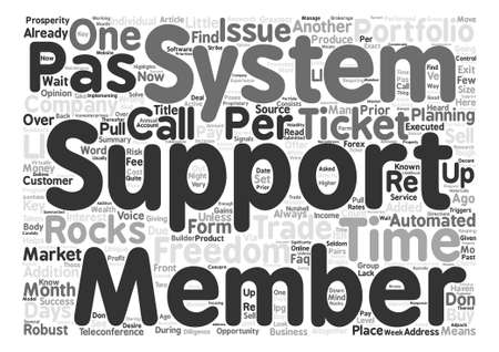 performed: Support is key to success for any company Word Cloud Concept Text Background Illustration