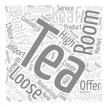 Loose Leaf Tea and the Tea Room A Valuable Partnership text background word cloud concept