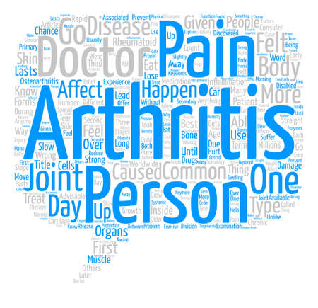 Arthritis Pain text background word cloud concept