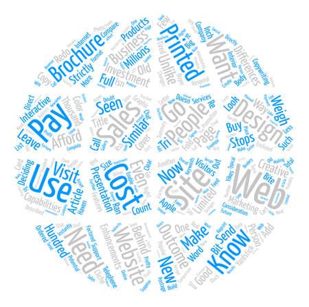 Web Design Word Cloud Concept Text Background