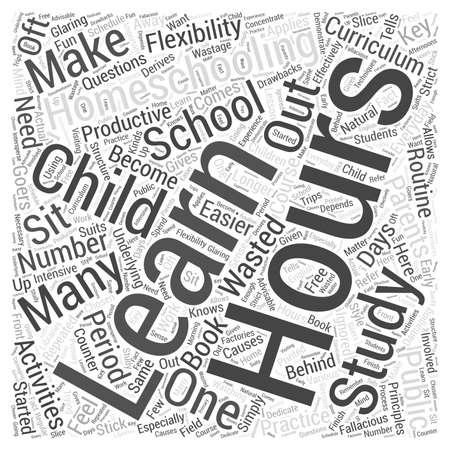 homeschooling: homeschooling hours Word Cloud Concept
