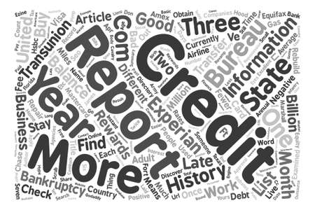 fewer: Check Credit Reports Word Cloud Concept Text Background Illustration