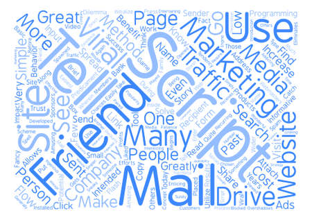 Tell A Friend Script Word Cloud Concept Text Background Illustration