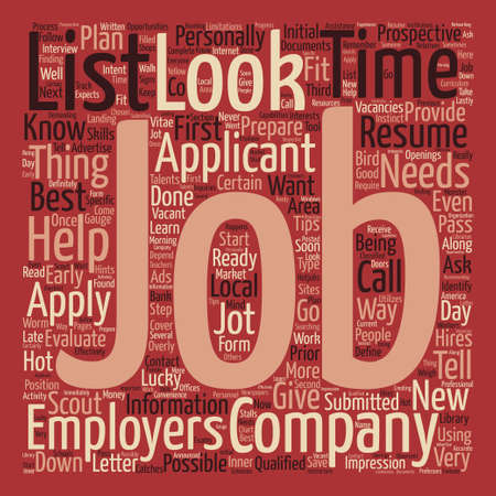 looking for jobs Word Cloud Concept Text Background