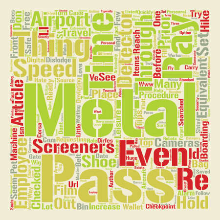 metal pass time Word Cloud Concept Text Background