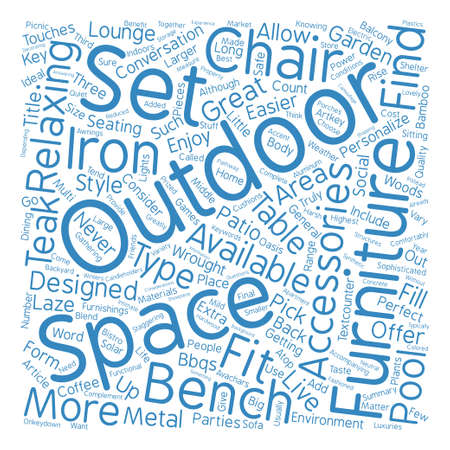 Outdoor Furniture Word Cloud Concept Text Background