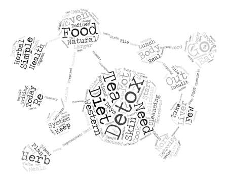 beforehand: Western Diet Detox Today Word Cloud Concept Text Background