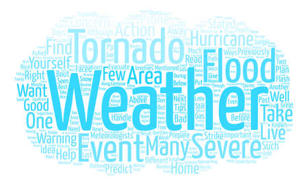What to Do When Severe Weather Strikes text background word cloud concept