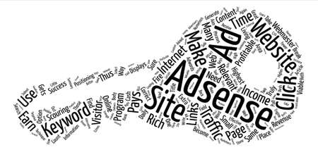 make summary: Make A Great Income With Adsense text background word cloud concept