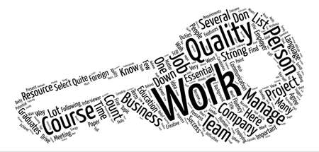 fluency: quality work You Want text background word cloud concept