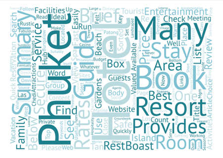 Phuket travel Word Cloud Concept Text Background