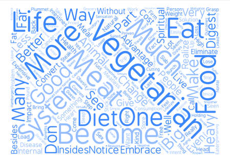 The Good of Vegetarianism Word Cloud Concept Text Background Illustration