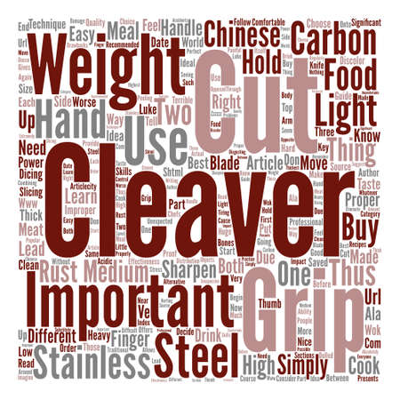 How to Buy and Grip a Chinese Cleaver text background word cloud concept