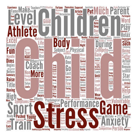 supposed: Child stress game Word Cloud Concept Text Background Illustration