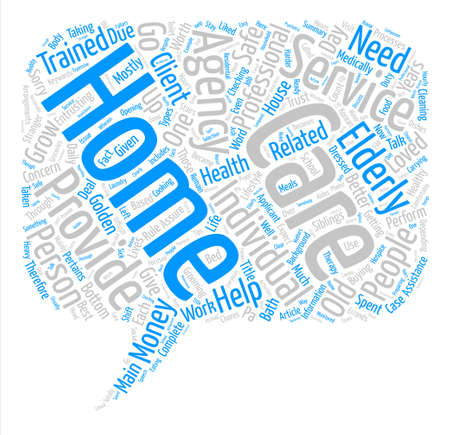 Home Care Provider text background word cloud concept Illustration