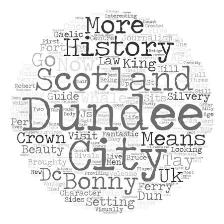 dun: Dundee History And Guide Word Cloud Concept Text Background