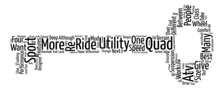 eliminate: differences between utility and sport atv Word Cloud Concept Text Background