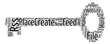competitor: rss feeds text background word cloud concept