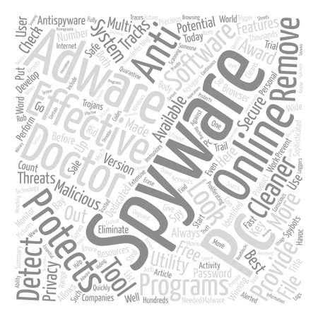 Effective Spyware And Adware Utilities Word Cloud Concept Text Background