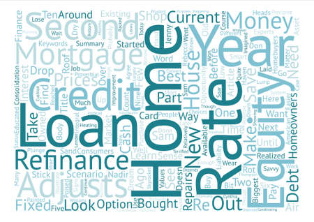 Educated Consumers Can Save Money on Mortgages Word Cloud Concept Text Background